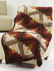 Autumn Spice Stripes Afghan