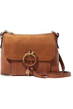 416cdf6a8296 See by Chloé - Joan Small Suede-paneled Leather Shoulder Bag - Tan