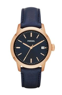 The Prep: Fossil Townsman Leather Strap Watch ($115)