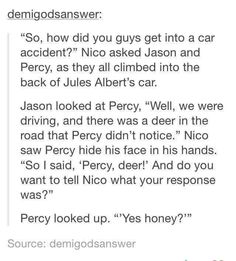 *blinks than facepalms* Really Percy? *Stops and starts to laugh* PERSAS… Percy Jackson Memes, Percy Jackson Books, Percy Jackson Fandom, Solangelo, Percabeth, Jason And Percy, Be My Hero, The Kane Chronicles, Jason Grace