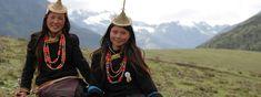 Girls from Laya Bhutan