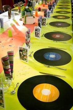 Déco évènement décoration de table thème année 80