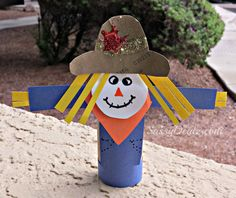 Scarecrow Toilet Paper Roll Craft For Kid's (Halloween & Fall Idea ...
