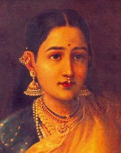 Lady with Swarbat (detail) by Raja Ravi Verma