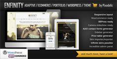 Enfinity, my new adaptive ecommerce portfolio Wordpress theme