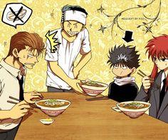 Tags: Waiter, Yu Yu Hakusho, Urameshi Yuusuke, Kurama, Hiei, Kuwabara Kazuma