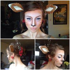 Halloween makeup for the wildlife animal
