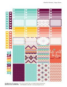 """FREE """"Wild and Free"""" Planner Stickers by Beayoutifulplanning"""