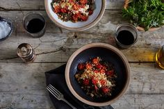 Anna Jones' Favorite Lentils with Roasted Tomatoes & Horseradish ; thyme ; cottage cheese ; breadcrumbs ; vegetarian ; healthy