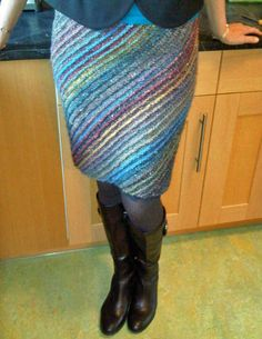 A knit skirt I might actually wear: lanesplitter skirt by JKornegay, via Flickr