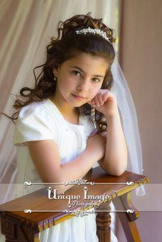 Unique Image Photography. First Holy Communion Portraits. Comunnion dress ideas. Holy Communion Inspiration.