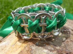 Soda Tab Bracelet Upcycled Can Ring Pull by FunkyKnitsandBits, £4.00