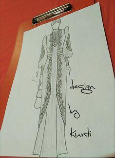 Fashion Flats, Hijab Fashion, Fashion Templates, Sherwani, Dress Sewing Patterns, Fashion Sketches, Designer Wear, Drawing Sketches, Uni