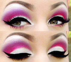 vibrant pink, barbie lookalike---so drag queen, but I LOVE it! I would totally wear a toned-down version.