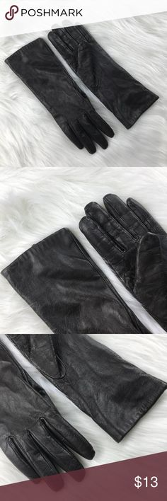 [Merona] Solid Black Sheep Leather Gloves • Lightly Used  • Excellent Condition  • Solid Black • Sheep Leather  • Slightly Above Wrist Length • Lined • Shell: Sheep Leather // Lining: 100% Polyester Merona Accessories Gloves & Mittens