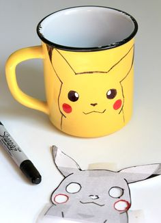 DIY Pokemon GO Sharpie Pikachu Cup | Crafts a la mode