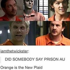 Supernatural prison AU... I smell a fanfic coming on... Somebody needs to write this