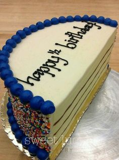 Half Birthday Cake what a great idea for kids who would enjoy