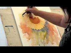 Sunflower - Watercolour Demo - Joanne Boon Thomas--OMG, I love this demo. I must try this myself!