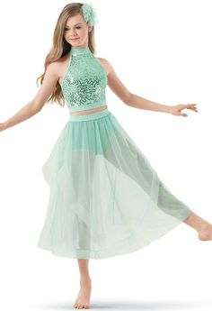 Weissman™ | Sequin Lace Top with Soft Tulle Skirt