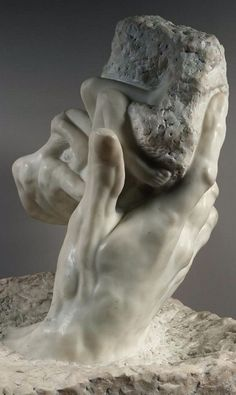 """sirloin:  """"Poor God, how often He is blamed for all the suffering in theworld. It's like praising Satan for allowing all the good that happens.""""― E.A. Bucchianeri, Brushstrokes of a Gadfly     The Hand of God, 1896, Auguste Rodin,Musée Rodin"""
