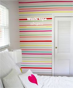 Una pared divertida decorada con Washi Tape