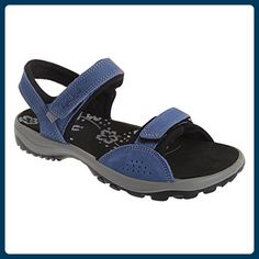 IMAC Damen Sandale / Sport-Sandale / Trekking-Sandale mit Klettverschluss, Nubukleder (39 EUR) (Marineblau) - Sandalen für frauen (*Partner-Link)