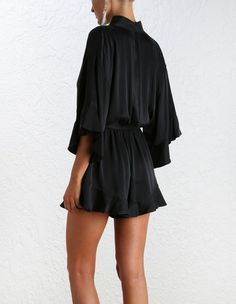 Empire Sueded Playsuit