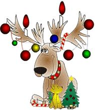 reindeer with decorations christmas graphics christmas clipart christmas templates winter fun let - Animated Christmas Clipart