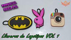 ♥ Tutorial: Llaveros de Logotipos de Goma Eva (Foamy) VOL 1 ♥