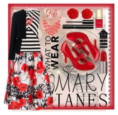 """""""What To Wear: Mary Janes"""" by winter-372 ❤ liked on Polyvore featuring POP, Dolce&Gabbana, Sans Souci, Alexa Starr, Karen Millen, Urban Decay, Chanel, 10 Crosby Derek Lam, maryjanes and blackandred"""