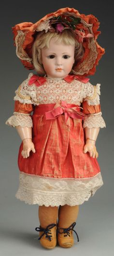 morning glory china head dolls | 17in Simon & Halbig IV doll, 17in. Est. $7,000-$10,000.