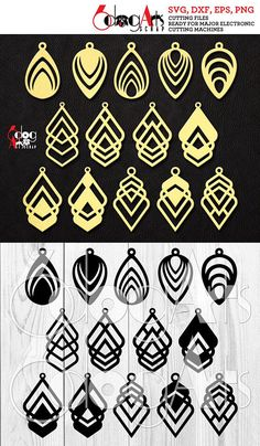 Leather (or Wood, Acrylic, etc.) Teardrop Earring / Pendant Cutting Templates - vector digital files to use for your crafting projects, etc. WHAT YOU WILL RECEIVE You will receive these designs in 4 file formats: SVG (vector file, fully editable, unlimited resizing without loss of