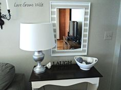 Love Grows Wild: Ugly Mirror Makeover with Stripes!