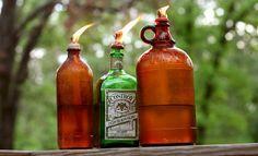 Mason Jar Crafts - 12 More DIY Oil Lantern Ideas | #crafts #masonjars via Put it in a Jar (putitinajar.com)