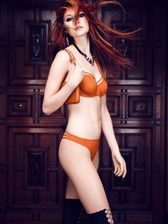 Marlies Dekkers undressed space odessey bra in burnt orange. @marlies|dekkers #brasandpanties #undressed #teddiesforbettys