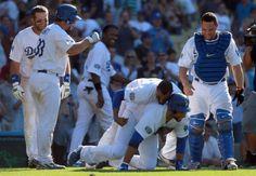 Matt Kemp and Russell Martin Photo - New York Mets v Los Angeles Dodgers