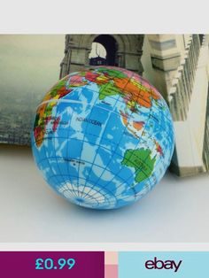 Hot sale earth globe planet world map foam stress relief bouncy world globes toys games gumiabroncs Gallery