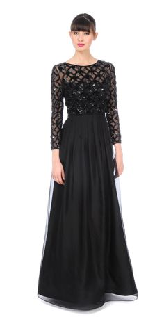 Kay Unger Sequin Pop Top Gown $790 https://www.zindigoboutique.com/kay-unger-dresses/kay-unger-sequin-pop-top-gown/