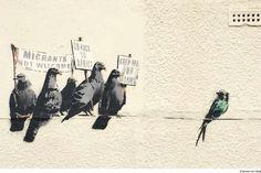 'Racistisch' kunstwerk van Banksy weggepoetst   Buitenland   Telegraaf.nl