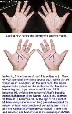 18+81= 99 names of Allah Azzawajal 81-18=63 ( prophet Muhamed peace be upon him died ) allahi ra7moe