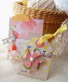 Pinwheel on the tag - Creative Paper Trail: from the inside out...