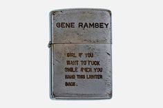 Vietnam War Zippo Lighters (9 Pictures) > Design und so, Fashion / Lifestyle, Film-/ Fotokunst, Netzkram > fox, lighters, peace, snoopy, vietnam, war, zippo