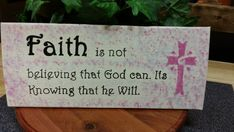 Faith quote wood sign inspirational quote by TeesTransformations