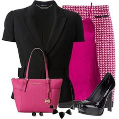 """""""Pink & Black"""" by daiscat on Polyvore"""