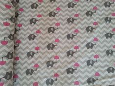 Gray elephant fabric cotton baby fabric gray by sarteBoutique