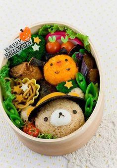 Lunch box idea; Rilakkuma Halloween Bento.