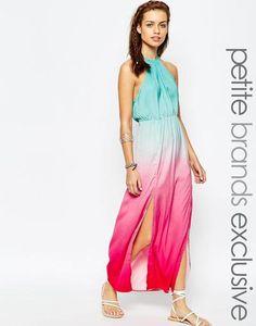 https://www.covet.me/ZYnEFs Tiger Mist Petite Tie-dye Maxi Dress at asos.com #maxidress #women #covetme