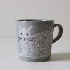 Mug Grey SlimCat - AIDA general store | Origami
