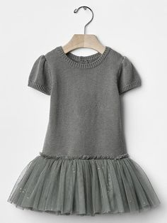Sparkle mix-fabric tutu dress Product Image